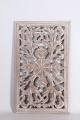 Stoer landelijk oud houten wandpaneel 50 x 30 cm whitewash Sand wandornament wanddecoratie hout panelen luiken