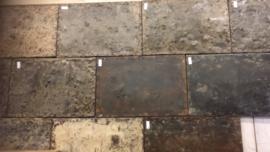 Oud ijzeren plaat paneel Wandpaneel zo stoer! wandbekleding rijplaat tafelblad metaal metalen industrieel landelijk stoer grijsbruin