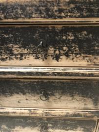 Oud houten Kastje met 3 lades kast ladekast ladenkastje ladenkastjes landelijk stoer