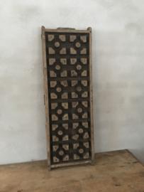 Prachtig groot origineel oud paneel mal van plafondornament gipsmal Wandpaneel wandornament Luik landelijk