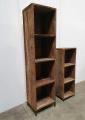 Stoer grof houten railway truckwood hout kast kastje schap rek 175 industrieel landelijk vintage metalen pootjes
