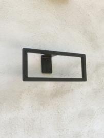 Smeedijzeren metalen handdoekhouder towelholder handdoekenrek ring zwart bruingrijs haak handdoekring industrieel oog landelijk stoer