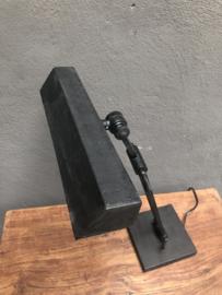 Matzwarte burolamp tafellamp bureaulamp spot spotje bedlampje leeslamp leeslampje staand landelijk industrieel zwart mat