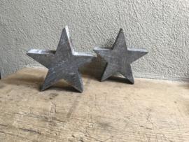 Grijze houten ster sterren hout grijs stoer landelijk kerst