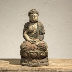 Prachtig oud houten buddha Boeddha boedha budha beeld oud hout beeldje landelijk oosters heilig