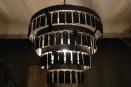 Stoere metalen hanglamp kroonluchter lamp zwart grijs metaal be uniq ketting Dean urban stoer industrieel landelijk vintage