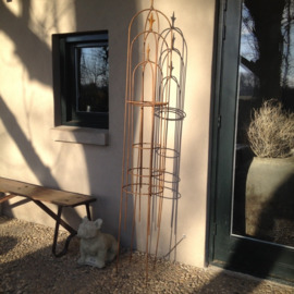 Set van 3 obelisk obelisken tuinornament klimplant klimrek smeedijzer 100-150-200