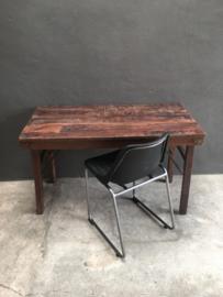 Oud houten klaptafel markttafel tafel keukentafel tafeltje eettafel buro bureau oud hout origineel gebruikt  landelijk stoer industrieel