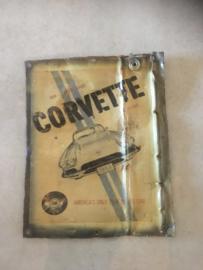 Metalen reclame platen plaat reclamebord Corvette vintage retro industrieel