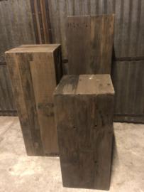 Houten zuil, oud hout 35x35x80
