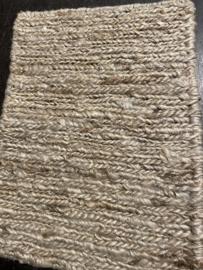Groot vlakgewoven 100 % hennep vloerkleed kleed carpet karpet Sand  200 x 140 cm