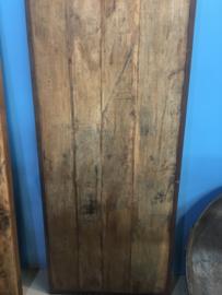 Oude ( vergrijsde ) landelijke industriële eettafel keukentafel 180 x 80 cm tuintafel klaptafel werkbank werktafel oud vintage stoer