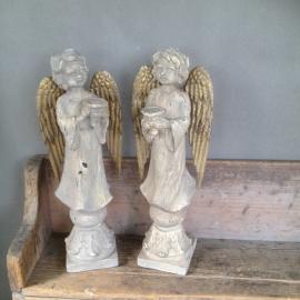 Grote engel (nieuw naar oud model) kandelaar engeltje engeltjes