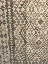 Prachtige Kelim kleed vloerkleed tapijt landelijk grijs beige sober 265 x 180 cm