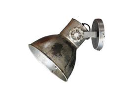 Industriële oud gerecycled metalen spotje hanglamp wandlamp 1 grijze kap spot spots plafondlamp plafoniere metaal verstelbaar landelijk stoer vintage