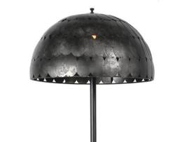 Metalen vloerlamp staande lamp 160 x 50 cm industrieel vintage landelijk zwart grijs stoer korf