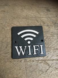 Gietijzeren bordje tekstbord  WIFI bord gietijzer vintage zwart wit industrieel