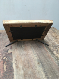 Vergrijsd truckwood houten hout 20 x 28 cm fotolijst fotolijstje fotolijstjes