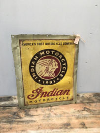 Metalen reclame platen plaat reclamebord indian motors  vintage retro industrieel
