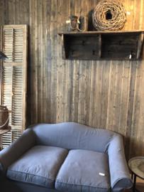 Groot Stoer landelijk oud houten truckwood Railway kapstok wandconsole 120 cm wandkapstok wandrek schap rek wandconsole regaal landelijk stoer hout