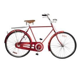 Metalen grijze wanddecoratie fiets rood zwart muurdecoratie 3D jongenskamer reliëf metaal industrieel vintage 111 x 66 x 7 cm