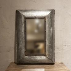 Hele stoere metalen spiegel industrieel landelijk grijsbruin vintage metaal stoer