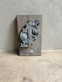 Stoer wandpaneel wandornament landelijk stoer sober grijs grijze beton hout grijs lood