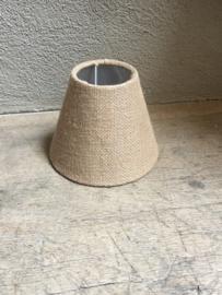 Nieuw klein grof jute lampenkap lampekapje bruin beige naturel landelijk stoer sober Brocant