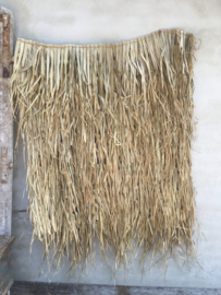 Palm leaf mat 120 x 120 cm natural naturel landelijk wandkleed raamdecoratie schaduwdoek zonnescherm vliegengordijn wandpaneel wanddecoratie bamboe vliegengordijn hor schaduwdoek klamboe takken sober stoer vintage wanddecoratie schaduwdoek wanddoek