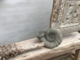 Betonnen schelp grijs beton decoratie tuin interieur landelijk stoer