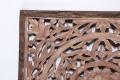 Groot whitewash grey naturel bruin wandpaneel met teakhouten rand 75 x 75 cm landelijk Ibiza stijl style wanddecoratie paneel wandornament wit grijs