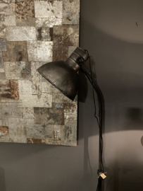 Stoere vloerlamp staande lamp zink  industrieel landelijk antraciet mat zwart old look zwartgrijs staande lamp leeslamp