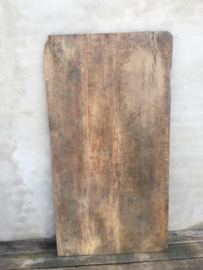 Origineel oud vergrijsd houten tafelblad werkblad 162 x 86 x 4 cm werkblad paneel hout schot scherm wand landelijk sober oud stoer doorleefd geleefd