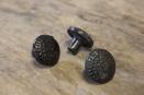 Gietijzeren deurknopje knopje greepje deurknop massief metaal landelijk stoer industrieel vintage urban bruin grijsbruin