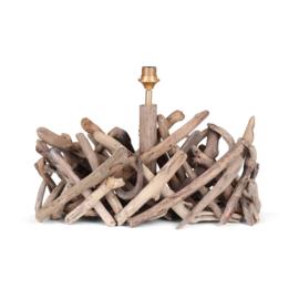 Drijfhouten driftwood lampenvoet 60 x 20 x 30 cm landelijk lamp
