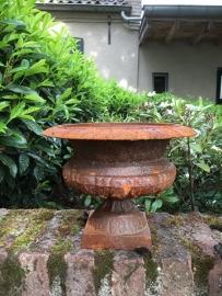 Gietijzeren tuinvaas pot bak schaal gietijzer roest kapitein vaas bloembak bloempot landelijk