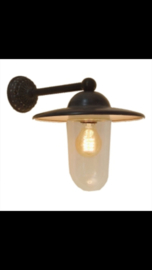 Grijze buitenlamp lantaarn cerreto stallamp tierlantijn wandlamp  incl glazen stolp