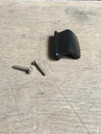Zwart metalen greepje small handgreepje knop knopje kast deurtje landelijk metaal industrieel strak