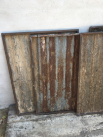 Oude metalen golfplaat Wandpaneel stoer urban wanddecoratie industrieel landelijk grijs bruin