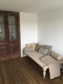 Gaaf houten touw bed charpai loungebed sofa lounge bank logeerbed kinderbed hondenbed landelijk stoer sober vintage