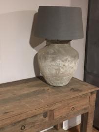 Grote kruiklamp gemaakt van oude kruik waterkruik landelijk sober stoer