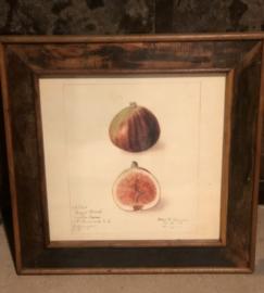 Grote houten fotolijst, stoer, robuust 56 x 56 cm landelijk vintage