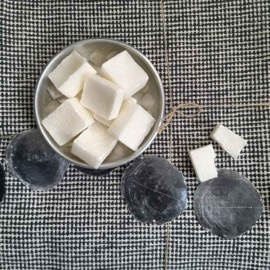 Heerlijk geurende white Cotton  amberblokje amberblokjes huisparfum geurblokjes
