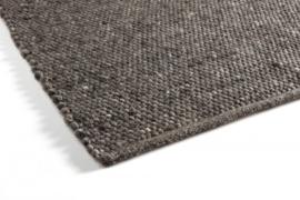 Groot handgewoven 100 % vervilt wol vloerkleed kleed carpet karpet charcoal 240 x 170 cm