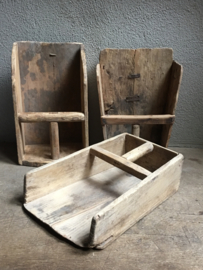 Oude houten graanschep schep rijstschep meelschep lepel hout landelijk