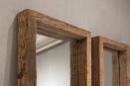 Stoere grove robuust houten railway 170 x 60 cm passpiegel  truckwood sloophouten spiegel landelijk stoer oud hout