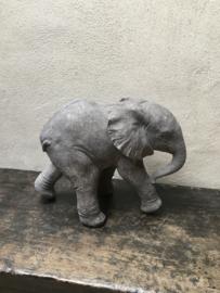 Prachtig gedetailleerde massief betonnen olifant beeld beton elephant tuinbeeld 44 x 34 x 24 cm