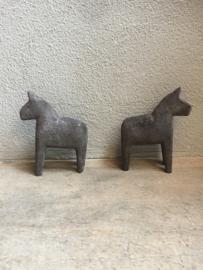 Oud houten pony paard ornament grijs grijze vergrijsd patine patina horse paardje decoratie landelijk