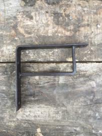 Smeedijzeren schapdrager schapdragers industrieel landelijk 13 x 13 cm plankdragers Plankendrager plankdrager plankendragers industrieel vintage strak zwartbruin steun steunen hoekijzer hoekijzers