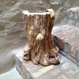 Stoere houten stronk landelijk boomstam tak decoratie pot vaas lamp
